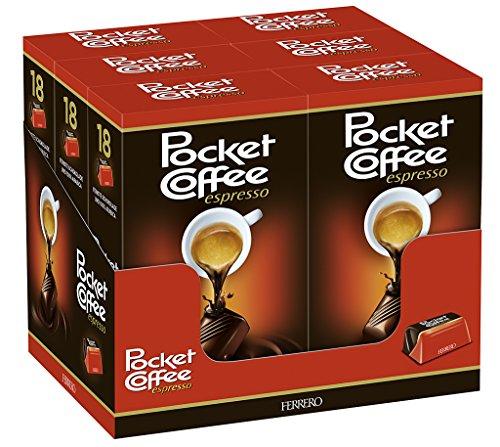 Ferrero Pocket Coffee Espresso, 100% Arabica, 6er Pack (6 x 225 g)