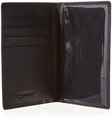 AmazonBasics Leather RFID Blocking Passport Holder Wallet - 6 x 4 Inches, Black