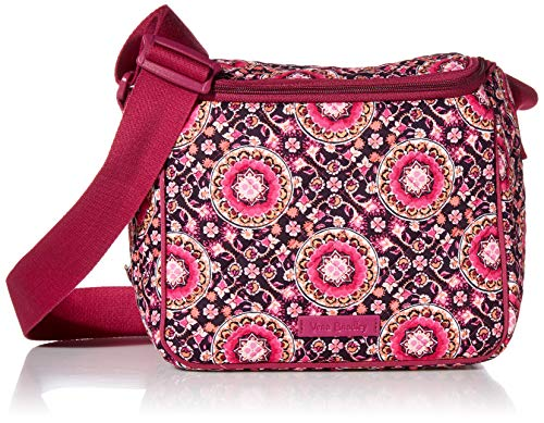 Vera Bradley Women's Signature Cotton Stay Cooler Lunch Bag, Raspberry Medallion