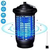 VOKSUN Lampe Anti Moustique, 15W UV Pièges à Moustiques Tueur de Moustiques avec IPX4 étanche, 2000V Electric Anti-Moustique Bug Zapper Lampe Pas de Produits Chimiques pour Exterieur en Intérieur