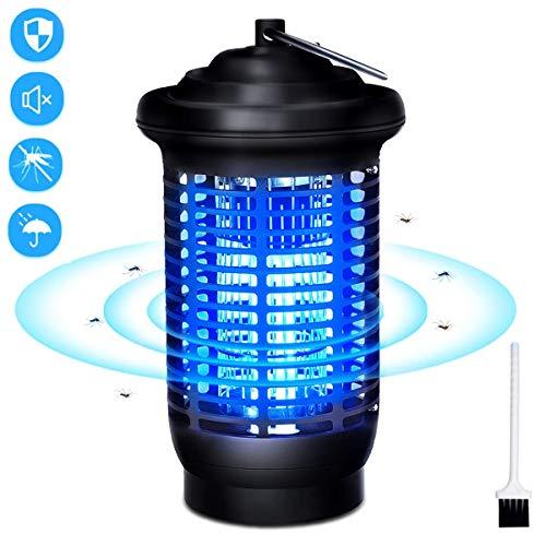 VOKSUN Lámpara Anti Mosquitos, 15W UV Electrico Mata Mosquitos 360° Repelente Zapper de Mosquitos con IPX4 Impermeable, 2000V Trampas para Insectos Mosquito Killer Interior y Exterior