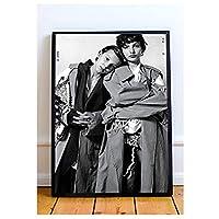フィン・ヴォルフハルトとミリー・ボビー・ブラウンのポスターとプリント壁アートキャンバス絵画リビングルームの家の装飾ギフト-50x70cmフレームなし