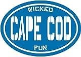 Oval Blue Wicked Fun Cape Cod Vinyl Decal - Massachusetts Bumper Sticker - Perfect Beach Souvenir...