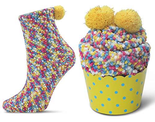 JARSEEN 2 Coffret Cadeau Noel Chaussettes Femme Super Confortables Chaud Douces Mignon Noël (2 Coloré, EU 36-42)