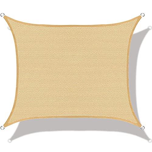 Shade Sails FGBUYGFR - Toldo rectangular para exteriores, tela de protección contra rayos UV, para patios, piscinas, terrazas, estacionamientos (color: beige, tamaño: 3 x 4 m/118 x 158 pulgadas)