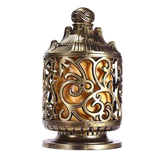 SPNEC Lámpara de Cabeza de Columna de Villa, lámpara de Poste de Puerta de Pared para Exteriores de Estilo Europeo, Valla Impermeable para Exteriores, iluminación para césped de jardín