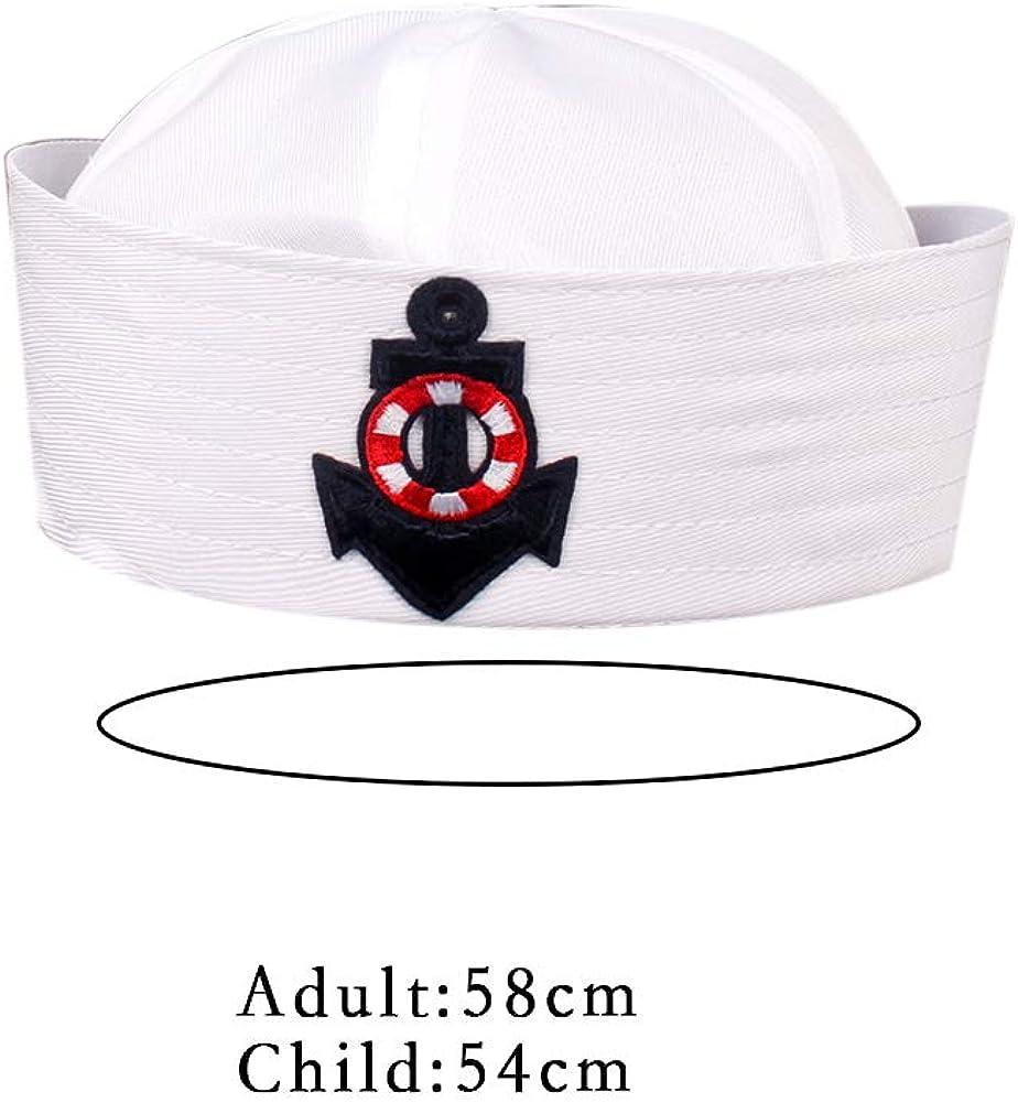 Uniforme White Hat Navy Sailors cap Nave Capitano Cappello Militare Marine Hat cap Stage Performance per Le Donne Gli Uomini