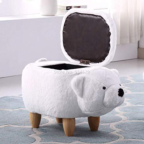LIXUDECO 21% madera maciza creativa zapatos de oso taburete taburete de almacenamiento para el hogar taburete taburete de almacenamiento (color: Style3)