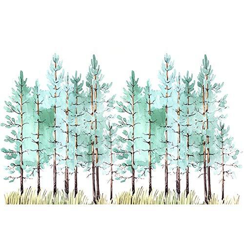 SILYHN Gemaltes abstraktes Baum-Kunst-Handgemaltes Ölgemälde auf Segeltuch-Wand-Kunst-rahmenloser Bild-Dekoration für Live Room Home Decor-Geschenk (50X80cm) 20X32inch