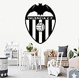 Etiqueta de la pared Classic Valencia CF Football Wallpaper PVC Adhesivos de pared para niños Habitación Art Decals Dormitorio Vinilo Mural vinilo de pared43x56cm