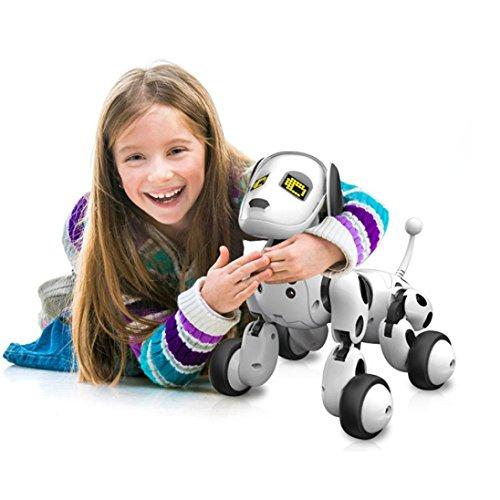 RC Smart Dog, Dinglong Intelligent Remote Control Robot Dog Electronic Pet Educational Toy for Kids - Sing/ Dance/ Walk/ Study Multi Mode - USB Charging