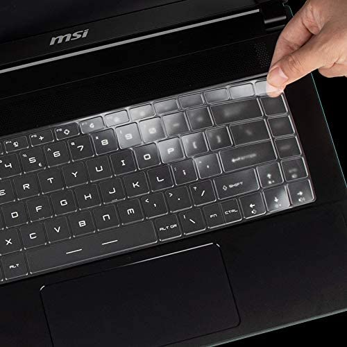 """KeyCover - Ultra Thin Keyboard Cover Compatible with 15.6"""" MSI GS66 GE66 Gaming Laptop - TPU"""