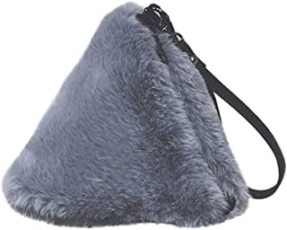 Kwok Women Bag Fashion Plush Handbag Chain Bag Shoulder Bag Messenger Bag Evening Package Crossbody Bag Leisure Bag Wallet Mobile Phone Bag