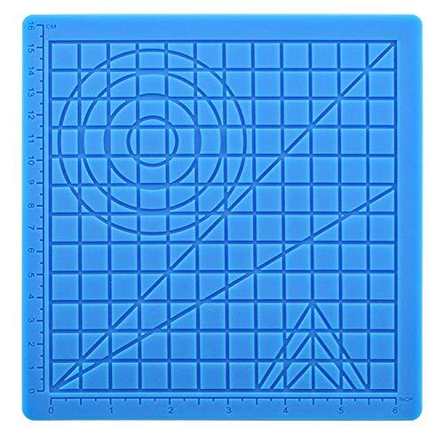 Impresión 3D de silicona tapete de pintura de dibujo tablero de dibujo 3D Pen Mat 3D Pen Stencils Libro 3D Pluma Herramientas de dibujo Azul 2PCS