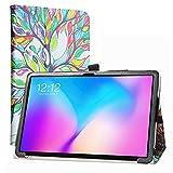 Labanema Funda para TECLAST T30, Slim Fit Carcasa de Cuero Sintético con Función de Soporte Folio Case para 10.1' TECLAST T30 Tablet PC - Love Tree