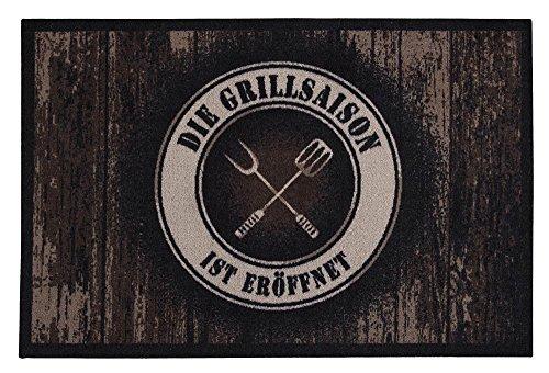 onloom Grillmatte BBQ, robust, 3 Designs & 2 Größen Rechteck & Rund, Größe:80x120cm, Farbe:Braun