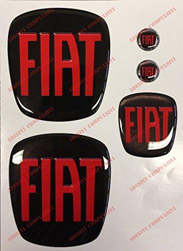 Freemont Logo, vorne + hinten + Lenkrad + 2 Embleme für Schlüsselanhänger, für Motorhaube, Kofferraum,...