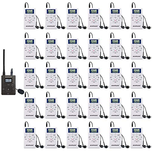 1. EXMAX 60-108MHz Portable DSP Stereo Wireles