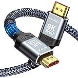 HDMI 2.1 Kabel 2m 8K, Snowkids 48Gbps 8K@60Hz HDMI 2.1 Kabel 4K@120Hz 7680P, für PS5 Konsole, DTS:...