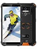 OUKITEL WP5 Pro Rugged Cell Phone Unlocked, 4GB +64GB 8000mAh Android 10 Smartphone + Triple Camera Global Version 4G, Face ID Fingerprint, Orange