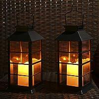 2-Pack Tomshine Waterproof LED Solar Lights