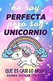 Agenda Escolar 2021-2022 Unicornio: niña infantil , Cuaderno colegio primaria por colegios , 1 día = 1 página , Agendas Escolares Septiembre 2021 - 10 JULIO 2022