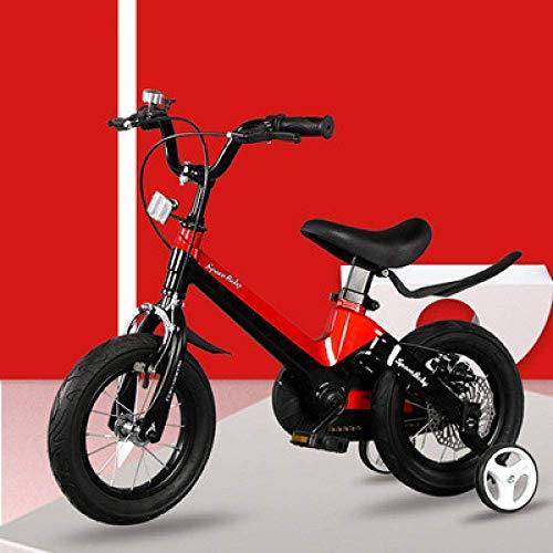 WCY Bicicletas de 12 Pulgadas Chico Bicicletas Plegables Bicicletas for niños Infantil 3-6-8 años niña de Bicicletas yqaae