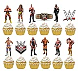24PC WRESTLING SPORT WWE PARTY CUPCAKE TOPPER CAKE TOPPERS DECORATION THEME BIRTHDAY A2