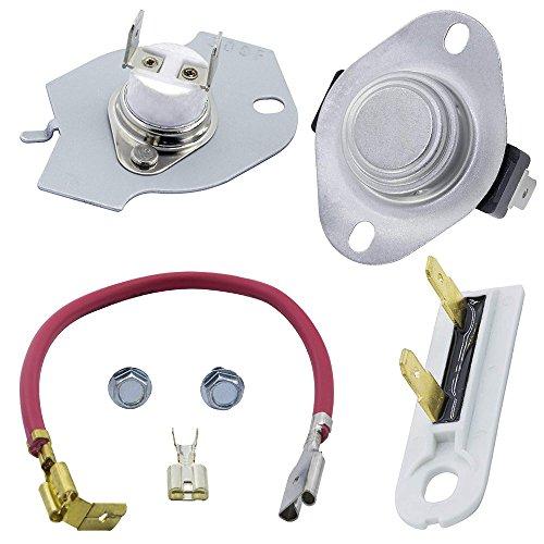 OxoxO 279816 Kit de termostato para secadora 3392519 Fusible térmico de ajuste exacto Whirlpool & Kenmore Secadora reemplaza 3399848 3977393 AP3094244 pieza de repuesto
