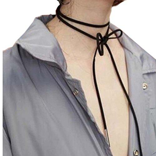 Bracelets de cols à la mode Collier de velours noir Cordon de clavicule