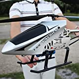 Pkfinrd Niños Drone Giant Giant Grande AIRN OWORT 85CM RC Helicopter MOYO Aviones DE Juguete con GYRO LED Light Radio Trio Remoto Control 3.5 Canales Helicóptero Principiante Fácil de operar