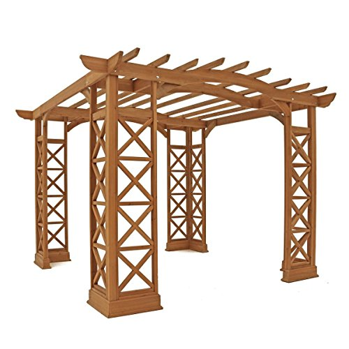 Hot Sale Yardistry Arched Roof Pergola Gazebos with Plinth, Tugboat