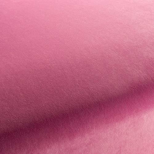 Chivasso Möbelstoff City Velvet VOL.2 Uni Farbe pink als robuster Bezugsstoff, Polsterstoff pink Uni zum Nähen und Beziehen,Polyester