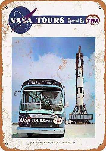 Kia Haop 0 NASA Bus Tours Metalen Fender Tin Teken Plaque Art Poster Muursticker Decoratie