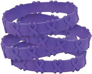 24 Purple Awareness Pop-Out Bracelets