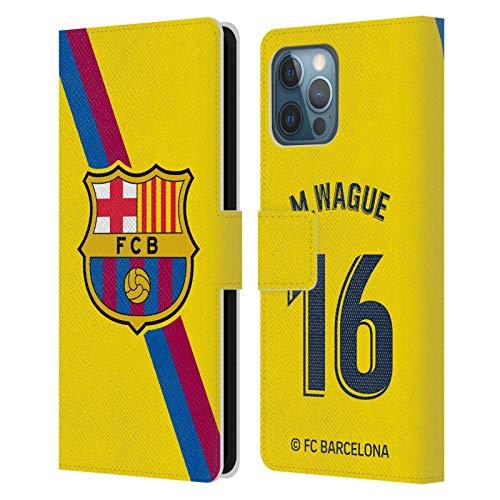 Head Case Designs Oficial FC Barcelona Moussa Wague 2019/20 Jugadores Visitante Grupo 2 Carcasa de Cuero Tipo Libro Compatible con Apple iPhone 12 Pro MAX