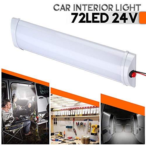 Iluminación interior de automóviles, luz de techo interior LED, luz de cabina con interruptor de luz blanca, remolque universal 12V / 24V Hudson Studio (Color : 24V)