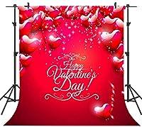 GooEoo 10×10FTシームレスなバレンタインデーのテーマ絵布カスタマイズされた写真背景の背景スタジオプロップVDD055C