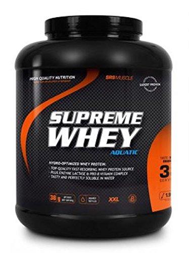 SRS Muscle - Supreme Whey XXL, 1.900 g, Schoko | Hydro-optimized Whey Protein | mit Enzym Laktase und Pro-B Vitaminen | aspartamfrei | deutsche Premiumqualität