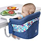 Hook On Chair, Fold-Flat Storage and Tight Fixing Clip on Table High Chair, Safe and High Load Design Fast Table Chair for Home and Travel