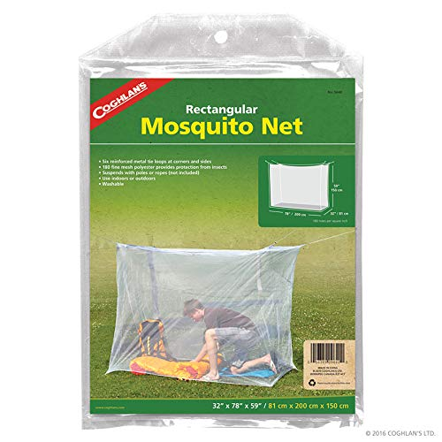 Coghlan's 9640 32x78 Mosquito Bed Net, Multicolor, single wide / 180-mesh
