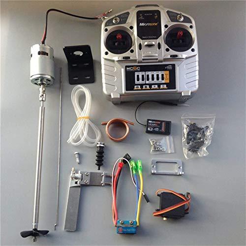 Nuevo Kit de control remoto para barcos completos de hélice Transmisor Mc6c + Receptor mc6re + Motor 775 + Timón de agua de 95 mm + 480a Esc cepillado para barcos a reacción Rc Accesorios para
