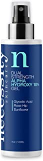 Necessity Skincare Dual Strength Alpha Hydroxy 10% Gel With Glycolic Acid, Rose Hip & Sunflower Oil, 4 fl. oz.