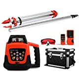 FORAVER Red Rotary Laser Level Self Leveling Measuring Automatic with Receiver Remote Control