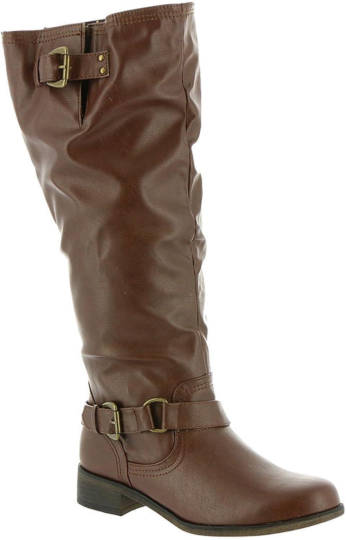 XOXO Moira Zip-up Knee-High Boots, Brown, 8 US   39 EU