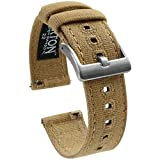 20mm Khaki - Barton Canvas Quick Release Watch Band Straps - Choose Color & Width - 18mm, 19mm, 20mm, 21mm, 22mm, or 23mm