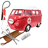 Deluxe Ambulance Playset for WWE Wrestling Action Figures: Red