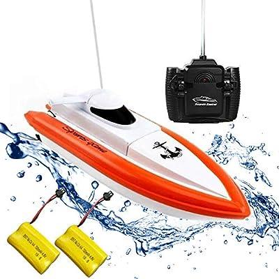 Rabing RC Bateau pour piscines et lacs - HY800 Racing Boats Bateau télécommandé haute vitesse 2,4 GHz à 15-20 km / h pour enfants Adultes Garçons Filles (ne fonctionne que dans l'eau)