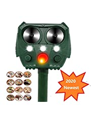 N/P Ultrasonic Solar Cat Repeller Pet Repeller Animal Repellent with 5 Modes Adjustable, Waterproof Ultrasonic Repellent for Cats, Dogs, Pests, Red Deer, Foxes, Mouse, Birds, Skunks