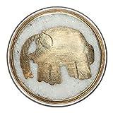 Noosa Chunk Elephant white-gold-brass powderstone
